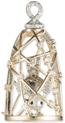 Carolee Gold-Tone Crystal & Imitation Pearl Birdcage Pin