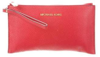 MICHAEL Michael Kors Grained Leather Clutch