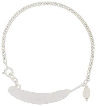 Wouters & Hendrix My Favourite feather and freshwater pearl bracelet