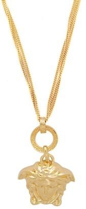 Versace Medusa Charm Triple Chain Pendant - Womens - Gold