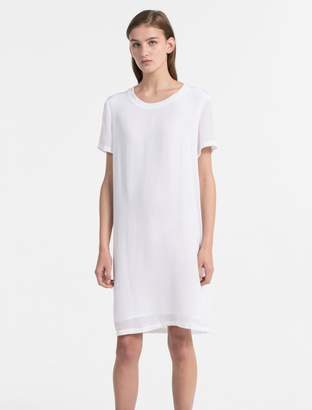 Calvin Klein relaxed fit crepe t-shirt dress