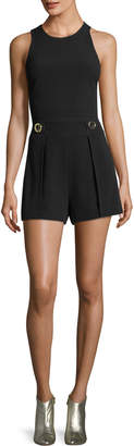 Derek Lam 10 Crosby Cropped Shell Top with Elastic Back