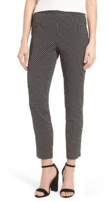 Women's Cece Dot Jacquard Slim Pants $99 thestylecure.com