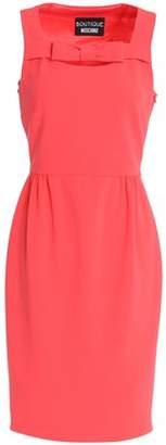 Moschino Bow-Embellished Crepe Dress