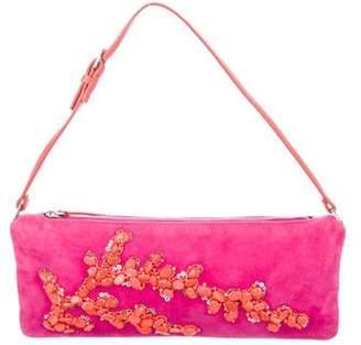 Valentino Embellished Suede Mini Bag