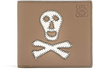 Loewe Skull-patch leather bi-fold wallet