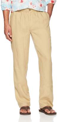 28 Palms Men's Linen Pant with Drawstring