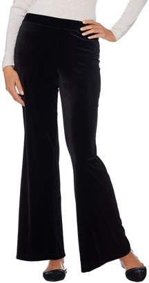Isaac Mizrahi Live! Regular_Knit Velvet Wide Leg Pants