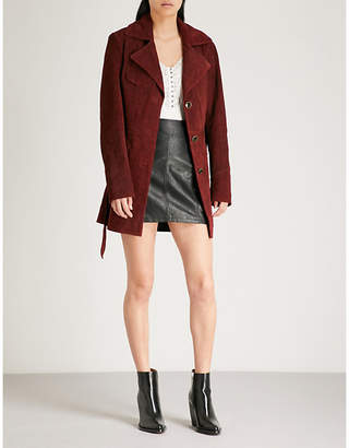 Free People Agent 99 suede jacket