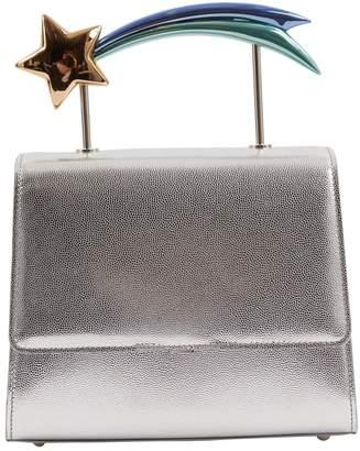 Ming Ray Silver Leather Handbag 8a19adf38fd46
