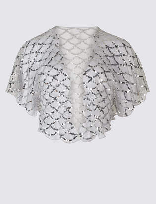 M&S Collection Sequin Shrug Wrap