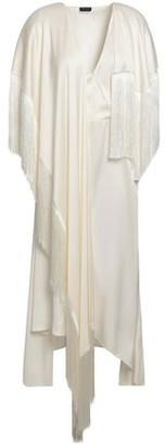 Magda Butrym Draped Fringed Silk-satin Dress