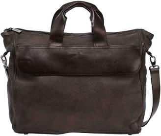 Numero 10 Leather Briefcase Bag W/ Vintage Effect