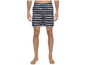 Original Penguin Watercolor Wave Print Swim Shorts Men's Swimwear