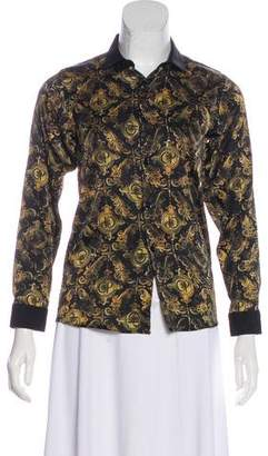 Cesare Paciotti Silk Button-Up Top