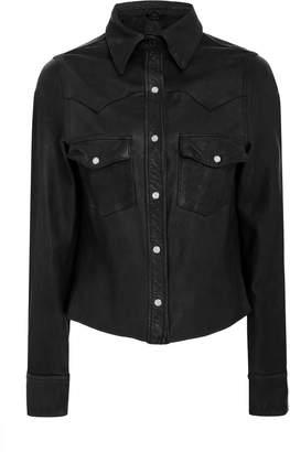 Marissa Webb Brodie utility leather jacket