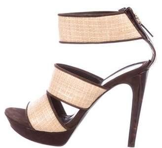 Fendi Raffia Platform Sandals