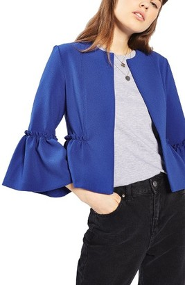 Women's Topshop Ruffle Crop Jacket $85 thestylecure.com