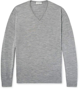 John Smedley Blenheim Mélange Merino Wool Sweater