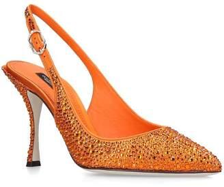 Dolce & Gabbana Crystal-Embellished Slingback Pumps 90