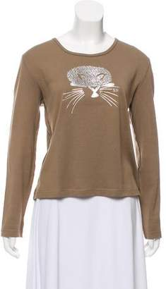 Sonia Rykiel Long Sleeve Embellished Top