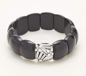 Stephen Dweck Sterling Silver Gemstone Stretch Bracelet