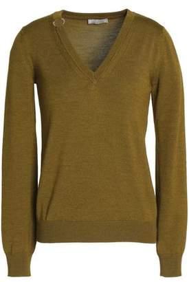 Nina Ricci Embellished Wool And Silk-Blend Sweater
