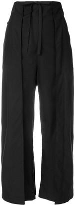 Aalto wide leg cropped trousers