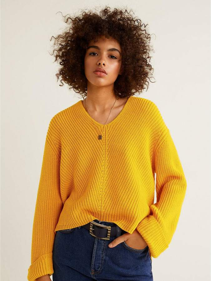 Knitted Jumper - Yellow