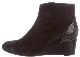 Aquatalia Embossed Pointed-Toe Boots