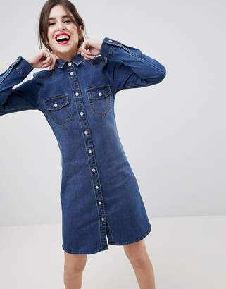 Esprit Western Style Denim Shirt Dress