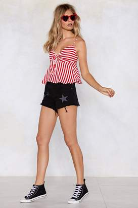 Nasty Gal Straighten It Out Striped Cami Top