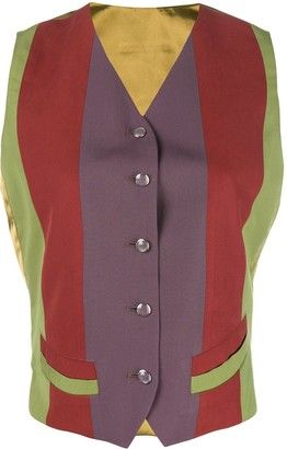 Jean Paul Gaultier Pre-Owned colour block waistcoat
