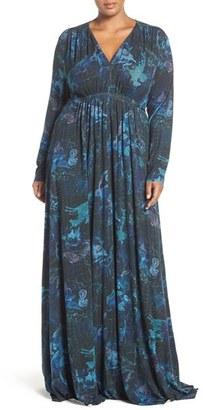 Plus Size Women's Melissa Mccarthy Seven7 A-Line Maxi Dress $139 thestylecure.com