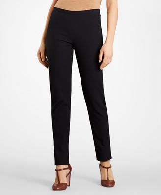 Brooks Brothers Petite Stretch-Cotton Jacquard Pants