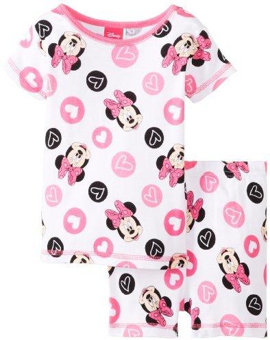 AME Sleepwear Little Girls' Minnie Print Pajama Short Set