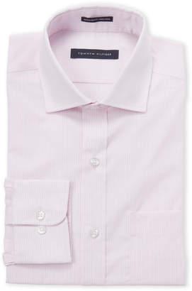 Tommy Hilfiger Pink Stripe Regular Fit Dress Shirt