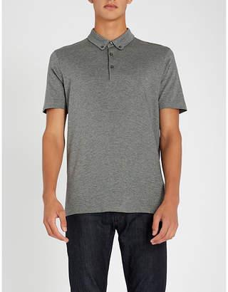 HUGO Micro-pattern cotton-jersey polo shirt