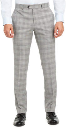 Bar III Men Slim-Fit Active Stretch Performance Black/White Houndstooth Plaid Suit Separate Pants