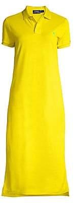 Polo Ralph Lauren Women's Logo Embroidered Short Sleeve Polo Dress