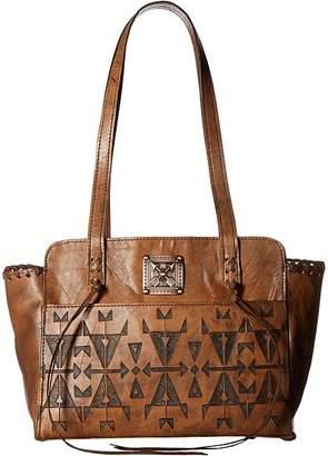 American West Crossed Arrows Zip Top Tote Tote Handbags