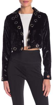 Wow Couture Embroidered Long Sleeve Jacket