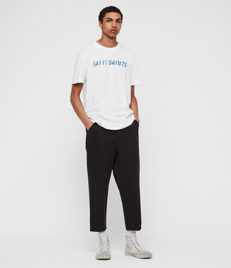 AllSaints Jute Cropped Wide-Leg Pants