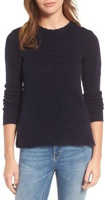 Women's James Perse Cashmere Crewneck Sweater $350 thestylecure.com