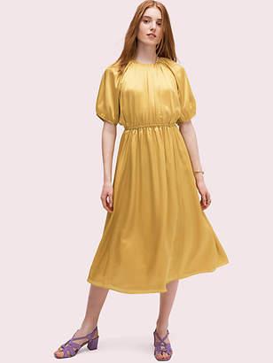 Kate Spade Silk Open-back Midi Dress, Chartreuse - Size 10