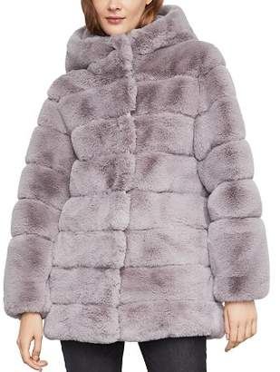 BCBGMAXAZRIA Felicia Faux Fur Hooded Coat