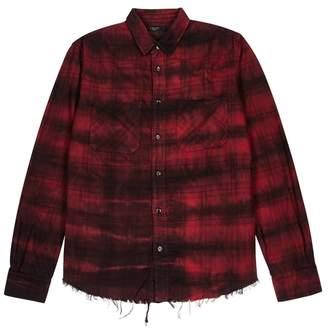 Amiri Cloud Tye-dyed Plaid Cotton Shirt
