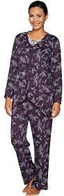 Carole Hochman Petite Interlock Etched Floral3-PC Pajama Set