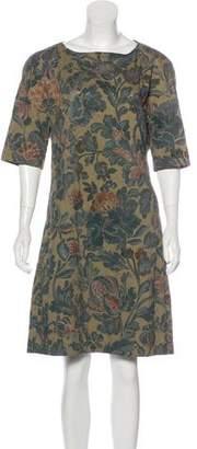 Dries Van Noten Quilted Floral Print Dress