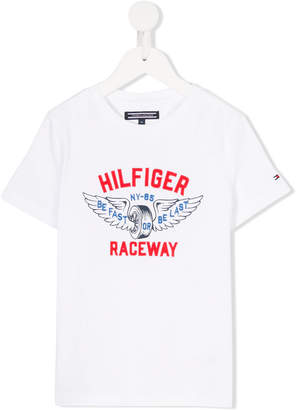 Tommy Hilfiger Junior branded racing T-shirt